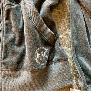 Michael Kors Velvet Emblem Bomber Jacket